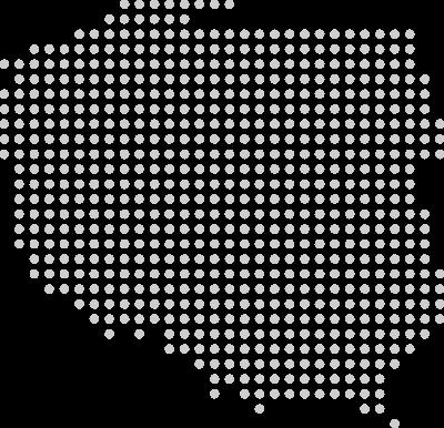 Kursy Excel na mapie polski