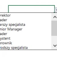 Tworzenie listy rozwijanej w Excelu